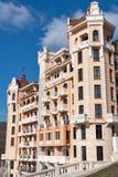 Façade royale d'hôtel de luxe de château dans Elenite, Bulgarie Images stock