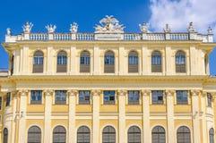 Façade of Schoenbrunn Palace in Vienna, Austria. Façade of Schoenbrunn Palace in the city of Vienna, Austria stock photo