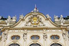 Façade supérieure de palais de belvédère Photos libres de droits