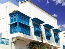 Façade tunisienne Photographie stock