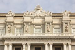 Façade of the Palazzo Ducale in Genoa. Façade of the White ducal Palace of Genoa royalty free stock image