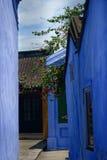Façades bleues de Hoi An images stock