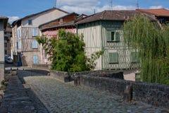Façades boisées de Limoges Image libre de droits