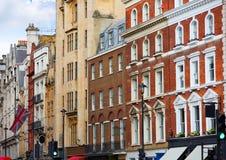 Façades d'avenue de Londres le Northumberland BRITANNIQUES photos libres de droits
