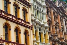 Façades de construction historique à Sydney CBD, Australie image libre de droits