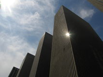 Façades de gratte-ciel Photographie stock libre de droits