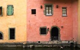 Façades des maisons Image libre de droits