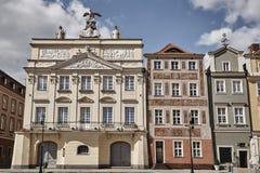 Façades des maisons historiques sur la vieille place du marché Images libres de droits