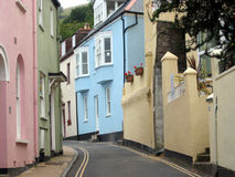 façades, pastel, Angleterre Images libres de droits