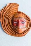 Façonné du masque d'argile photographie stock