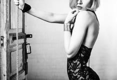 Façonnez la verticale d'un beau jeune femme sexy Photographie stock