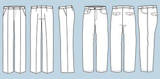 Façonnez le pantalon pour l'homme Photo libre de droits