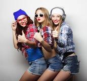 Façonnez le portrait du meilleur ami sexy élégant de trois filles de hippie Photo libre de droits