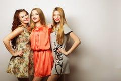 Façonnez le portrait du meilleur ami sexy élégant de trois filles de hippie Photo stock