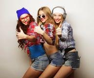 Façonnez le portrait du meilleur ami sexy élégant de trois filles de hippie Photographie stock