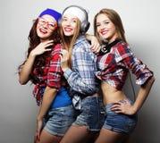 Façonnez le portrait du meilleur ami sexy élégant de trois filles de hippie Photos libres de droits