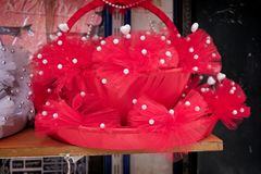 Façonnez le sac à vendre dans le bazar grand à Istanbul Image stock