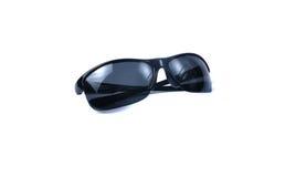 Façonnez les lunettes de soleil stilish de noir d'été d'isolement sur le fond blanc Images stock