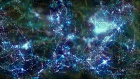 Faísca de brilho das partículas da introdução azul sem emenda ilustração do vetor
