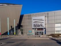 Faísca de Telus em Calgary, Alberta fotografia de stock