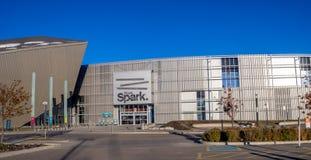 Faísca de Telus em Calgary, Alberta fotos de stock