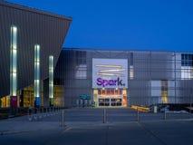 Faísca de Telus em Calgary, Alberta imagens de stock