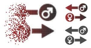 Faísca Dot Halftone Gender Exchange Icon ilustração stock