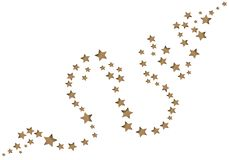 A faísca stars o fundo ilustração stock