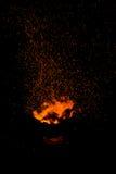 Faíscas da fogueira Imagens de Stock