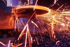 Faíscas de metal Fotografia de Stock
