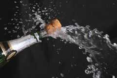 Faíscas do champanhe Imagem de Stock Royalty Free