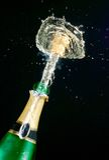 Faíscas do champanhe Fotografia de Stock Royalty Free