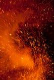 Faíscas do incêndio fotografia de stock royalty free