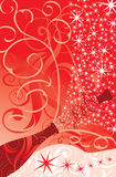 Faíscas do Natal de um champanhe, vetor Fotografia de Stock Royalty Free
