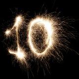10 de incandescência Fotos de Stock