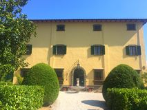 Faсade oldest Italian country villa. In Tuscany stock image