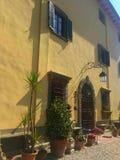 FaÑ  ade最旧的意大利国家别墅 免版税库存图片