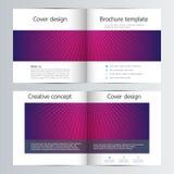 Fałd broszurki biznesowy szablon z abstrakcjonistycznym tłem Geometryczne grafika i łączyć linie z kropkami medyczny Zdjęcia Stock