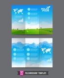 Fałd broszurki tła szablon 0002 Fotografia Royalty Free