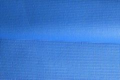 Fałdowa Błękitna sprawności fizycznej maty tekstura Zdjęcie Royalty Free