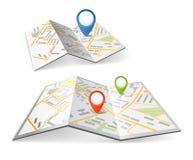 Fałdowe mapy Zdjęcie Royalty Free