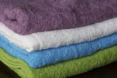 fałdowi ręczniki Fotografia Royalty Free