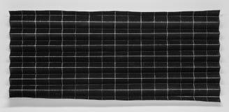 Fałdowy czerń papier w 256 częściach z białym tłem Zdjęcie Royalty Free