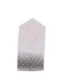 Fałdowy szarość krawat z białą drobiną Fotografia Royalty Free