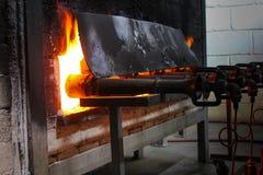 Fałszujący ogień dla piekarnika palenia, porcelany ceramika zdjęcie stock