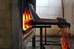 Fałszujący ogień dla piekarnika palenia, porcelany ceramika fotografia royalty free