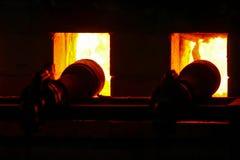 Fałszujący ogień dla piekarnika palenia, porcelany ceramika zdjęcie royalty free