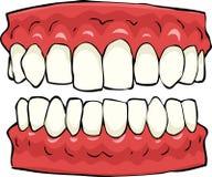 fałszywe zęby ilustracji