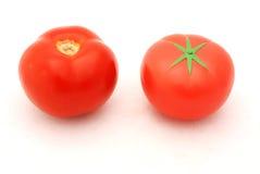 fałszywy prawdziwy pomidora zdjęcie stock