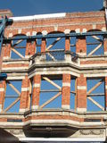 Façade of a building in restoration Stock Image